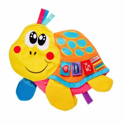 נשכן רעשן צב צבעוני צוחק - Toy Molly Cuddly Turdle